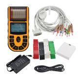 12 máquina à mão EKG do electrocardiógrafo ECG da única canaleta das ligações