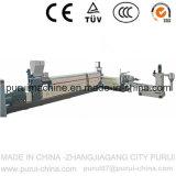 Único Parafuso Máquina de granulação de plástico para resíduos de aparas de HDPE/filmes