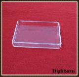 Borrar el plato de Petri cuadrado modificado para requisitos particulares del cuarzo