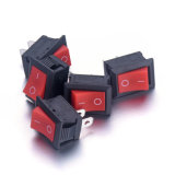 Roter großer Vierecks-Ein-Auswippenschalter Kcd1-101 250V/6A