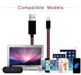 Cavo del USB di prezzi di Factroy dei commerci all'ingrosso con la lunghezza rossa mobile variopinta dell'OEM di illuminazione del LED