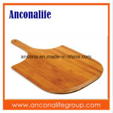 De goedkope Scherpe Raad van de Pizza van het Bamboe van de Prijs met de Schil van de Pizza van het Bamboe van het Handvat