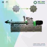 Extrusora de doble husillo y el sistema de peletización de plástico PET
