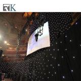 RGBのイベントのためのビデオパターン表示装置のカーテンLEDの星の布は飾る