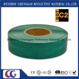 Fita reflexiva da segurança fluorescente do diamante do verde de cal para os veículos (C5700-FG)