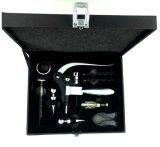 9 комплектов кролика/инструмента консервооткрывателя вина PCS роскошных черных классицистических