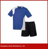 Usure jaune à séchage rapide de sport de chemise courte faite sur commande pour l'équipe de football (T23)