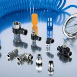 Tocco pneumatico del montaggio uno nella misura dei connettori pneumatici dei recto SMC di Conectores
