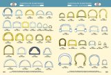 Joint circulaire personnalisé par vente en gros en métal d'accessoires de sac de taille