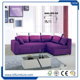 Indischer Art-hoch Rückseitehölzerner Recliner-neues gepolstertes Sofa-Schnittbett im Purpur