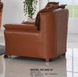 Nuovo sofà del cuoio genuino di prezzi all'ingrosso della fabbrica di arrivo (A05)
