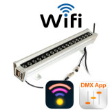 WiFi +DMX светодиодный RGB стены шайбу 36X3W 120 см