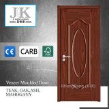 Panel interior de roble de la puerta de chapa de madera de roble con marquetería