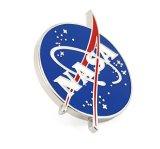 Pin отворотом эмали логоса NASA Pinsanity с Pin бабочки (YB-p-001)