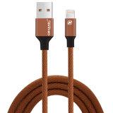 cable de carga rápido trenzado de nylon del USB del teléfono 2.1A hasta el cable del relámpago del 1.2m para el iPhone