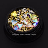 As vendas de fábrica de excelente qualidade para designs de unhas Acessórios Arte Misturar cores Rhinestones decorações Arte Unha