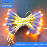 12mm gelbes LED einzelnes Farben-Pixel-Licht für gelochte Zeichen