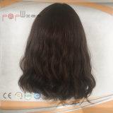 Peluca humana hermosa de la tapa de la piel del pelo de la Virgen (PPG-l-0862)