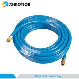 Tubos neumáticos del PVC del manguito de Xhnotion con el acoplador rápido apropiado hembra-varón de cobre amarillo
