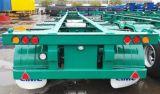 Cimc 40FT 거위 목 모양의 관 콘테이너 포좌 트럭 세미트레일러