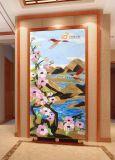El patrón de arte mural mosaico vitrales