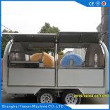 Carrello esterno del chiosco dell'alimento della via di disegno 4 asse popolare delle grandi rotelle del doppio da vendere