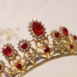 De koninklijke Toebehoren van de Juwelen van het Haar van de Sluier van de Kroon van het Hoofddeksel van de Tiara van het Spectakel van het Huwelijk van het Kristal Bruids Gouden