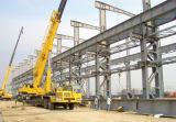 Edificio rápido de la estructura de acero de la construcción con la pared y el entresuelo del parapeto
