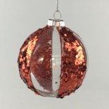 El vidrio Ball-Red (LCP-A-0078) la bola de Navidad