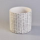 Runde Form-keramisches Kerze-Glas