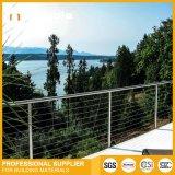 Rails en acier inoxydable/Balustrade de balcon ou d'escalier