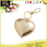 Anello chiave del metallo di cuoio a forma di del cuore (6414)