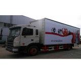 Dongfeng 10 톤 LED 스크린을%s 가진 50 M2 야외 무대 승진 트럭 단계 트럭