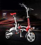12-дюймовый мини складной электрический велосипед красный