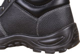Ботинки безопасности черноты ботинок безопасности Split кожи коровы ботинок безопасности пальца ноги самых дешевых людей стальные стальные