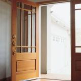 Modèle en bois moderne de porte de fini de mélamine de modèle de porte de modèles simples