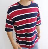 Elevada simples rayas Camiseta para hombres