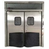Porta Resistente ao impacto da porta giratória de aço inoxidável com janela de segurança