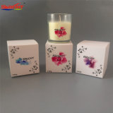 Ribbed Organic Natural Bio Soy Wax Candle with Free Design
