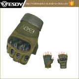 屋外スポーツのFingerless軍の戦術的なAirsoft銃ハンチング手袋タン