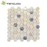 Il marmo naturale e lapida il mosaico decorativo della stanza da bagno dell'oro delle mattonelle da 8/10 di millimetro