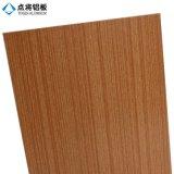 El panel compuesto de aluminio del grano de madera de Acm para el edificio
