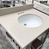 Kkr double lavabo en marbre artificiel salle de bain haut de la vanité (V170816)