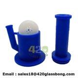 Incandescenza super del tubo di vetro personalizzata fabbrica della Cina nel tubo di acqua di fumo scuro del Weed Handpipe del tubo del silicone