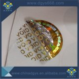 Custom Void inviolable autocollant Die Cut hologramme
