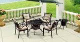 Utdoor/Tableau HS6122dt de barbecue de fonte d'aluminium rotin de jardin/patio