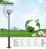 Pôle d'éclairage de 3 à 6 mètre de pôle d'éclairage solaire de jardin de la lumière dans rue lumière solaire
