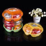 Estilos diferentes por atacado da fábrica do empacotamento plástico da fruta do bolo redondo disponível