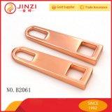 Qualitäts-Metallrosen-Goldreißverschluss-Abzieher mit Schweber für Handtaschen-Befestigungsteile