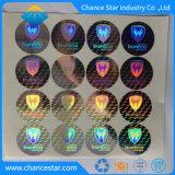 Holograma personalizado Anti-Tampered pegatinas etiquetas 3D